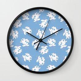 Honeysuckle Bouquet in Carolina Blue Wall Clock