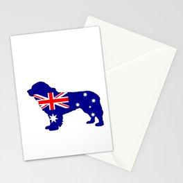 Australian Flag - Newfoundland Dog Stationery Cards