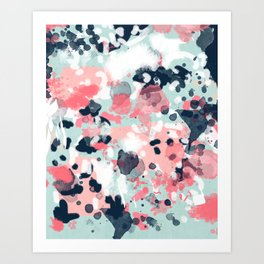 Jilly - modern abstract gender neutral canvas art print large scale abstract painting Art Print