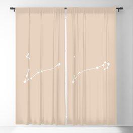 Pisces Zodiac Constellation - Warm Neutral Blackout Curtain
