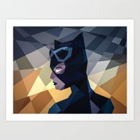 dc comics Art Prints featuring DC Comics Catwoman by Eric Dufresne