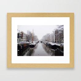 Winter in Amsterdam Framed Art Print