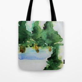 Green Trees Tote Bag