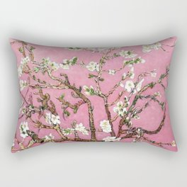 Vincent van Gogh Blossoming Almond Tree (Almond Blossoms) Pink Sky Rectangular Pillow
