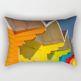 Scarborough Beach Huts 1 Rectangular Pillow