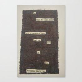 Blackout #14 Canvas Print
