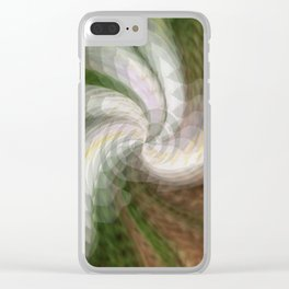 Swirling Softly.... Clear iPhone Case