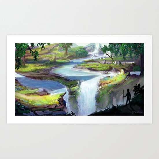 Eden Falls Art Print