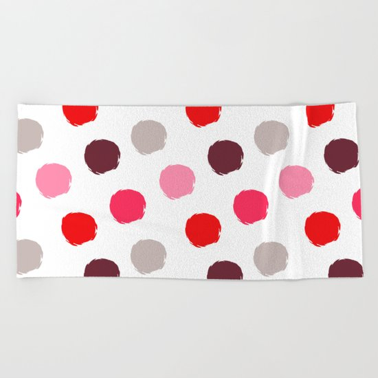 Fancy polka dot  Beach Towel