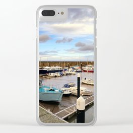 Watchet Marina Somerset England Clear iPhone Case