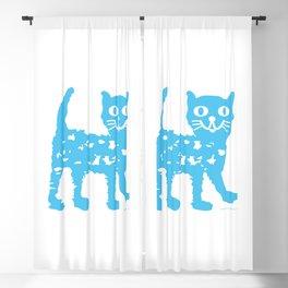 Blue cat Blackout Curtain