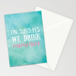 On Sundays, We Drink Mimosas Stationery Cards