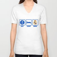 real madrid V-neck T-shirts featuring Eat Sleep Real Madrid by Sport_Designs