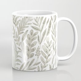 Grey Botanical Coffee Mug