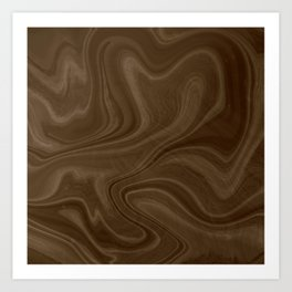 Chocolate Brown Swirl Art Print
