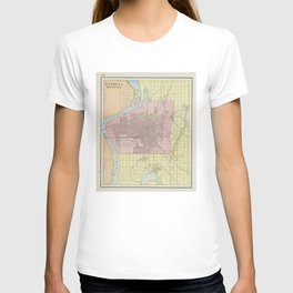 Vintage Map of Council Bluffs IA (1901) T-shirt