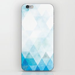 Turquoise Blue Water Triangle Pattern iPhone Skin