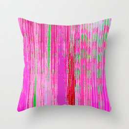 Linear Abstract Pink Throw Pillow