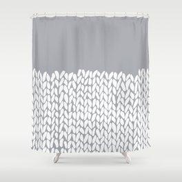 Half Knit Grey Shower Curtain