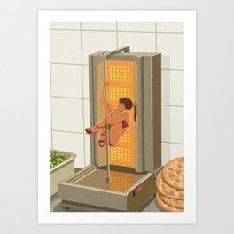 Donna kebab Art Print