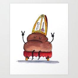 Holy Poope Art Print