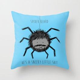 Spider Beard Throw Pillow