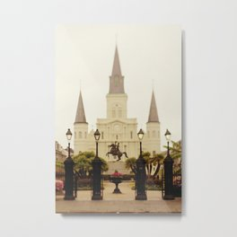 New Orleans Looking Through Jackson Square Metal Print