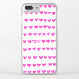 Surrounded by Hearts Clear iPhone Case