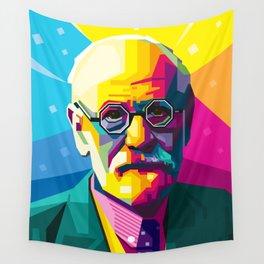 Sigmund Freud Graphic-design Pop Art Portrait Wall Tapestry