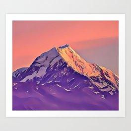 Candy Mountain Airbrush Artwork Art Print