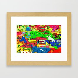 hazardous nature Framed Art Print