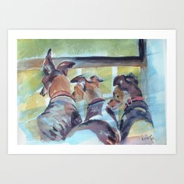 Three Greys Art Print
