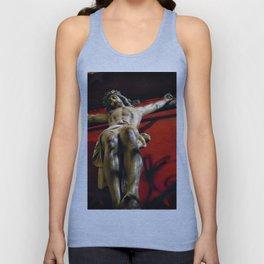 Jesus hanging on the cross Unisex Tank Top