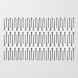 Silver Screws Background Rug