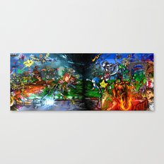 Nintendo Vs Sega Canvas Print