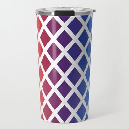 Rainbow geometric pattern Travel Mug