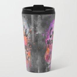Create Magic handlettering colorful watercolor art Travel Mug
