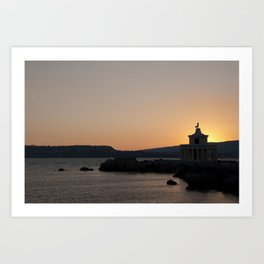 Kefalonia Lighthouse Lassi Greece Art Print