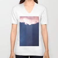 rain V-neck T-shirts featuring Rain by SUBLIMENATION