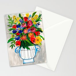 Wildflowers in a vase Stationery Cards