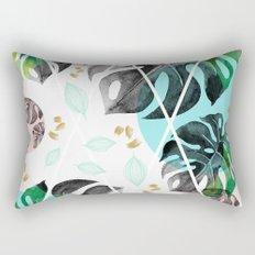 Monstera leaves watercolor Rectangular Pillow