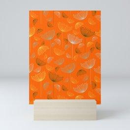 Mid-Century Modern Art Umbrella Flowers 1.4 Mini Art Print