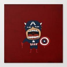 Screaming Captain America Canvas Print