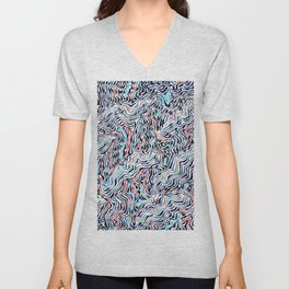 black topography Unisex V-Neck
