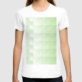 Triangles in green tones with 3d depth effect T-shirt