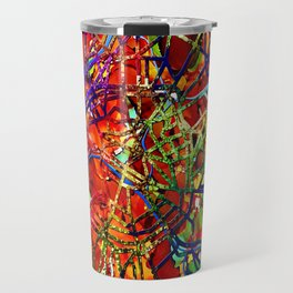 Contemporary Paris Street Map by Mark Compton Travel Mug