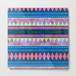 Biarritz Geometric Pattern Metal Print