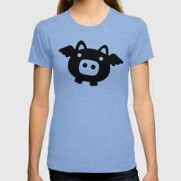 Pigs Will Fly (b&w) T-shirt