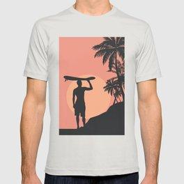 Sunset Beach Surfer T-shirt