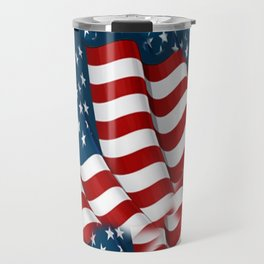 "ORIGINAL  AMERICANA FLAG ART ""STARS N' BARS"" PATTERNS Travel Mug"